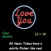 Love You 3D Neon w/ frame - box
