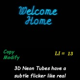 Welcome Home 3D Neon no frame - box