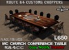 Route 84 customs   mc church conference table set
