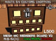 .:OCC:. Mesh MC Members Board v3 Boxed