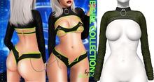 Demon Doll - E-Girl Shrug Top Army Green