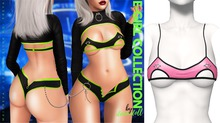 Demon Doll - E-Girl Piercing Bralette Barbie Pink