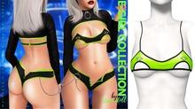 Demon Doll - E-Girl Piercing Bralette Neon Green
