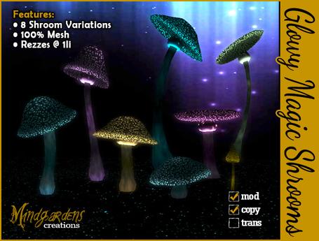 Glowy Magic Shrooms