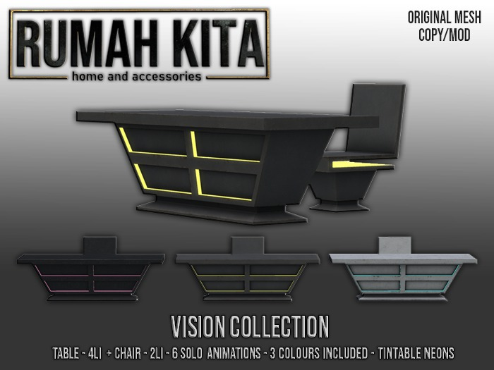 Rumah Kita - Vision Collection - Desk, Chair & Lamp