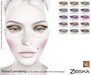 Zibska ~ Riona Eyemakeup in 15 colors for Lelutka HD