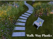 Walk-way Planks- White Weathered *PROMO-PRICE*