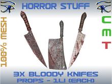 HORROR STUFF - BLOODY KNIFES 3x