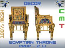 DECOR - EGYPTIAN THRONE