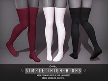 Sweet Thing. Simple Thigh-High Stockings
