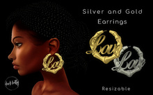 [DB] Love Earrings - Gold and Silver - Resizable
