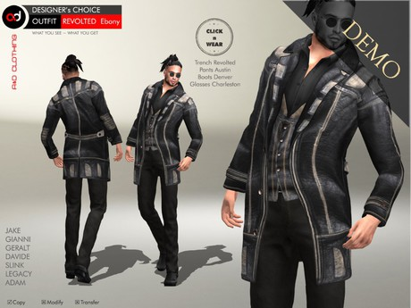 A&D Clothing - DC Outfit -Revolted- Ebony [Demo]