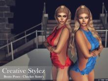 Creative Stylez - Bento Poses - Checker Sister's  -
