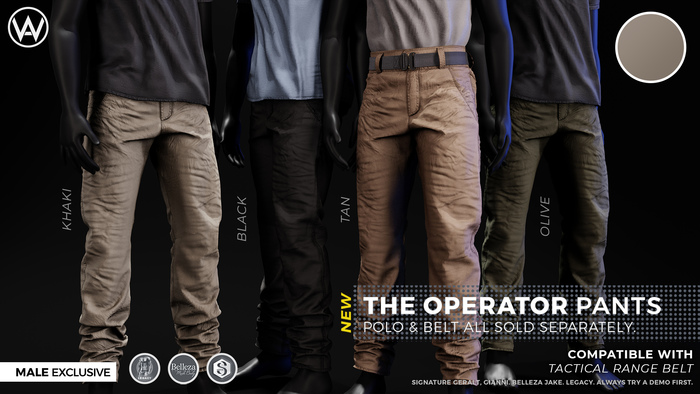 [WAZ] Operator Pants (Khaki)