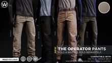 [WAZ] Operator Pants (Khaki) BOXED [Add/Rezz]