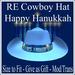 RE Happy Hanukkah Cowboy Hat - On Sale! Jewish Holiday Wear/Chanukah