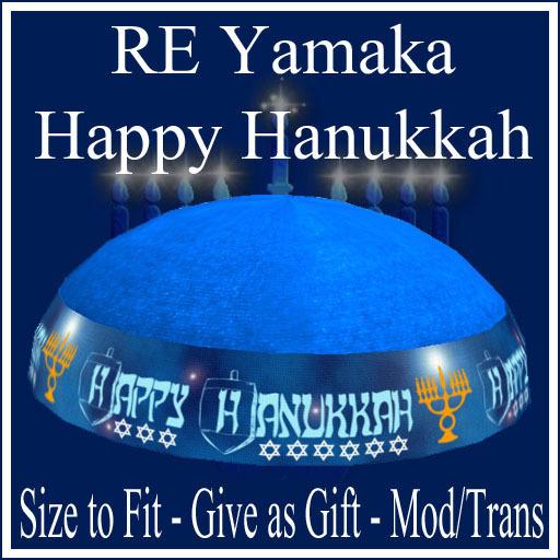 RE Happy Hanukkah Yamaka Hat - On Sale! Jewish Holiday Wear/Chanukah