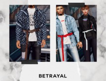 BETRAYAL. Lennox Jacket DEMO Jake, Gianni, Legacy, Maitreya, Hourglass