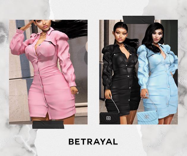 BETRAYAL. Victoria Dress DEMO Maitreya, Hourglass, Freya, Legacy