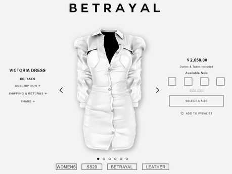BETRAYAL. Victoria Dress WHITE Maitreya, Hourglass, Freya, Legacy