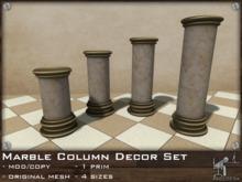 FaceDesk - Marble Column Decor Set - Roman, Italian, Home Decor