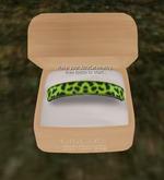 KittyCatS! Jewelry - Collar - Wild FlowerS! Lime Leopard
