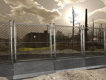 Concrete Barrier With Fence 2 - Mesh - 1 prim each