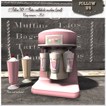 NEW version - Special Price !! Follow US !! Retro milkshake machine (pink) COPY version