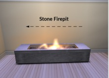 Firepit with Pebbles 2 prim