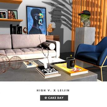 [high v.] x leijin kollab hypebeast living room chubby pack