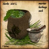 Herbs Sack and Mortar, Healer,Physican,Herbalist