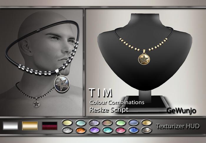 GeWunjo : TIM male necklace