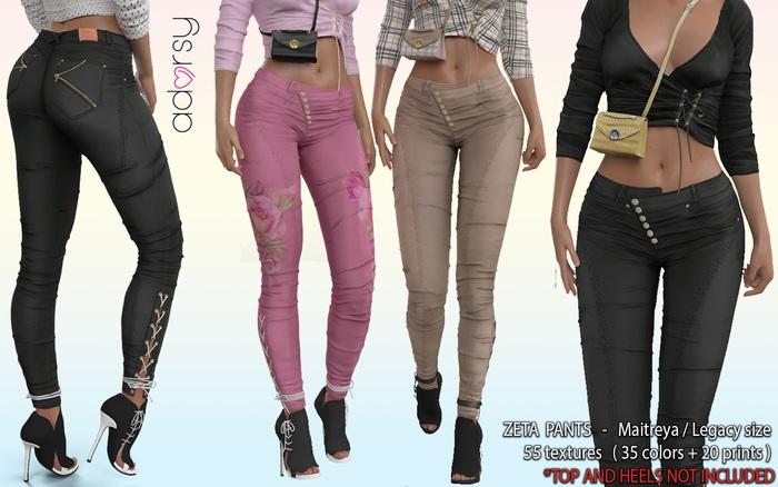 adorsy - Zeta Pants Fatpack - Maitreya/Legacy