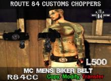 Route 84 Customs - MC Mens Biker Belt