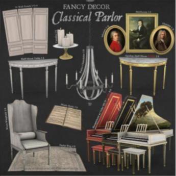 Fancy Decor: Opulent Half-Moon Table RARE