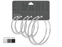 e.marie // Alexis Earrings - Silvers