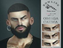 [ H O W L I N G ] - ZIG - eyebrows - White/Black.