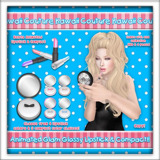 Kawaii Couture Animated Makeup Glam Pack Glossy