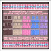 Kawaii Couture Chocolate Candy Chunk Building Kit