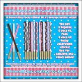Kawaii Couture Decorating Pocky Sticks