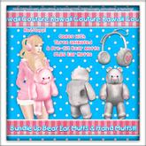Kawaii Couture Bundle Up Bear Muff Set White