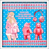 Kawaii Couture Bundle Up Bear Muff Set Red
