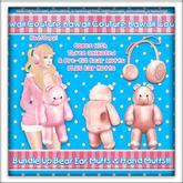Kawaii Couture Bundle Up Bear Muff Set Peach