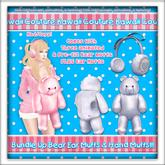 Kawaii Couture Bundle Up Bear Muff Set Blue