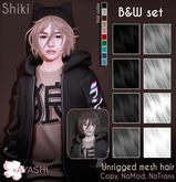 [^.^Ayashi^.^] Shiki hair-B&W set