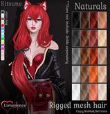 {Limerence} Kitsune hair-Naturals
