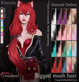 {Limerence} Kitsune hair-Natural Ombre