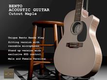 Bento Acoustic Cutout Guitar Maple