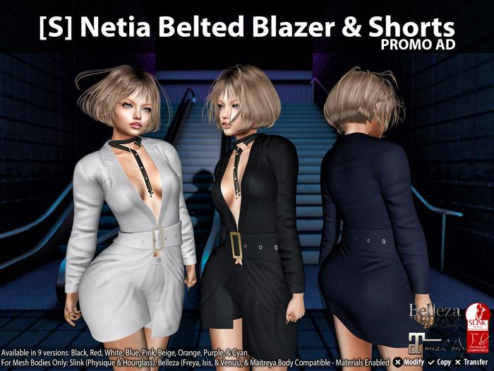 [S] Netia Belted Blazer & Shorts Demo
