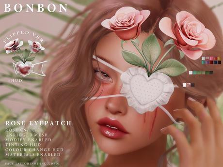 bonbon - rose eyepatch (unrigged)